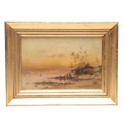 Luminist Oil Painting of Coastal Landscape