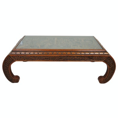 Chinese Carved Wooden Tea Table