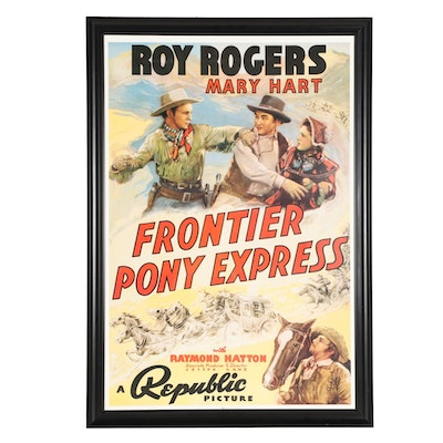 """Roy Rogers Movie Poster """"Frontier Pony Express"""""""