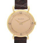 Vintage Jaeger-LeCoultre 18K Yellow Gold Stem Wind Wristwatch