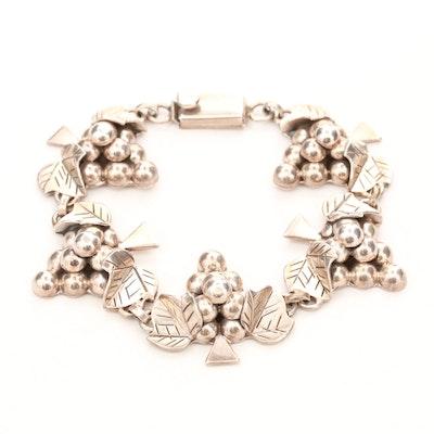 Vintage Mexican Sterling Silver Grape Cluster Bracelet