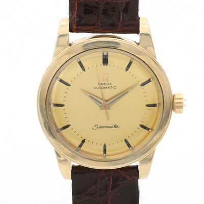 Vintage Omega Seamaster 14K Gold Filled Automatic Wristwatch