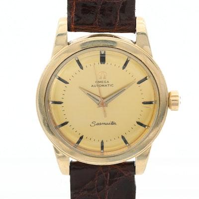 Vintage Omega Seamaster 14K Gold Filled Automatic Wristwatch