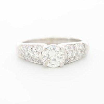 Platinum 1.15 CTW Diamond Ring