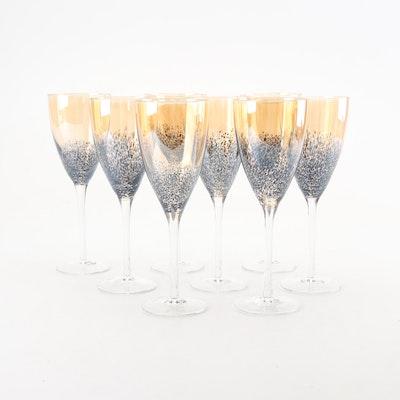 Amber Speckled Tulip Glasses