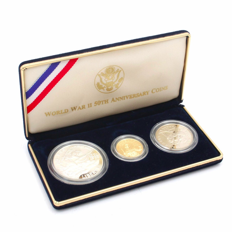 1991-1995 World War II 50th Anniversary Commemorative Coin Proof Set