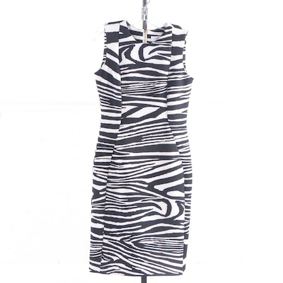 Calvin Klein Zebra Print Sleeveless Dress