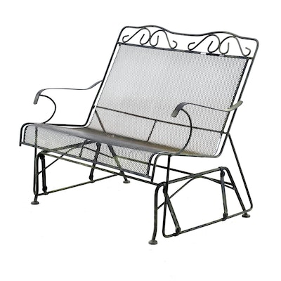 Metal Porch Glider, Mid to Late 20th Century