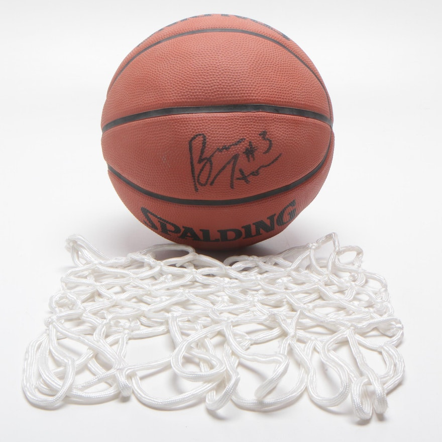 Bruce Horan Signed Spalding Basketball with Net, COA