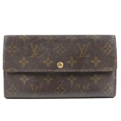 Louis Vuitton Paris Sarah Wallet in Monogram Coated Canvas