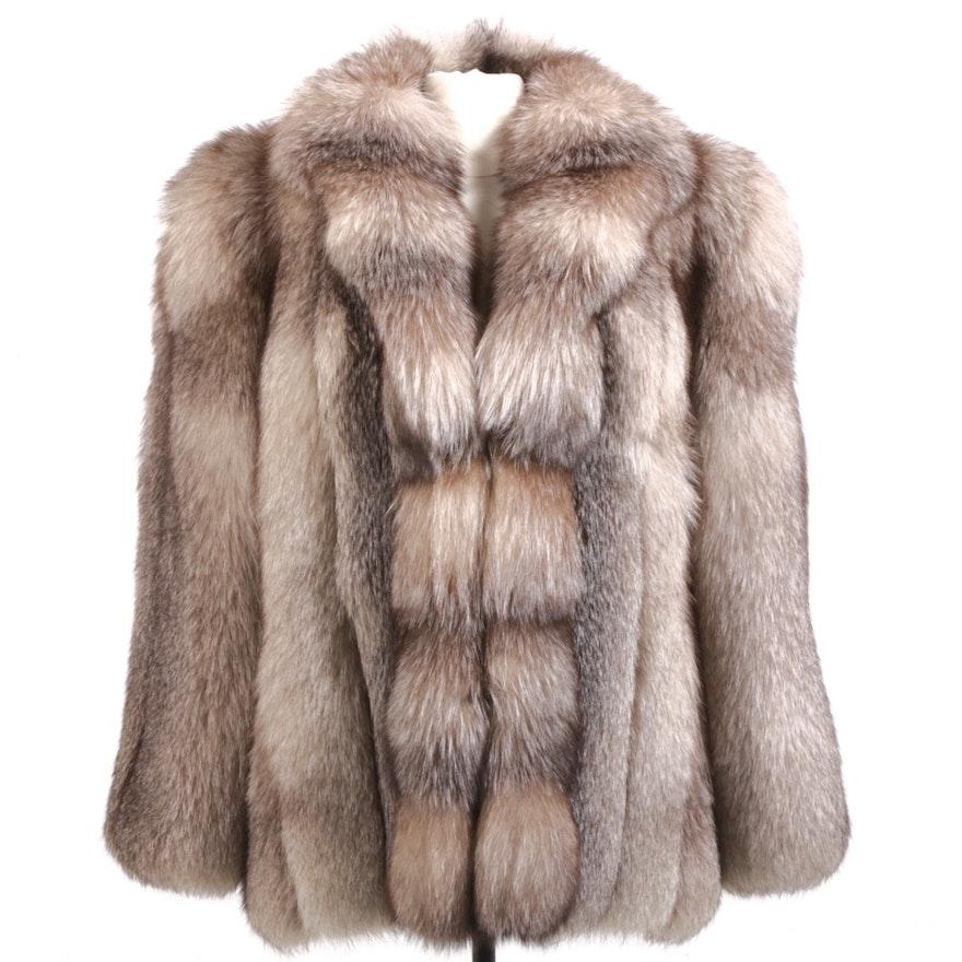 Crystal Fox Fur Full Skin Jacket from Harry K. Ott Furs, Vintage