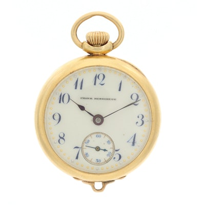 Antique Frank Herschede 18K Gold Convertible Pocket Watch, Circa 1909