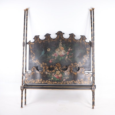 Queen Size Chinoiserie Poster Bed