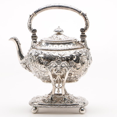 Bailey, Banks & Biddle Sterling Silver Tea Kettle on Stand, Late 19th Century