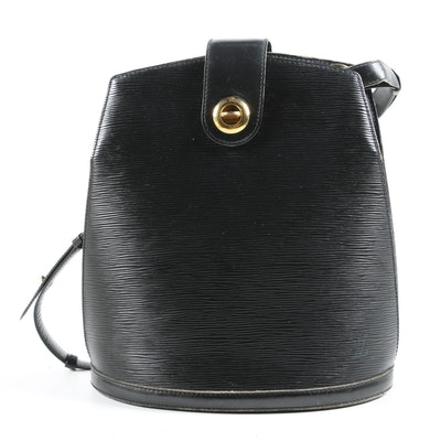 Louis Vuitton Paris Cluny Bucket Bag in Black Epi Leather