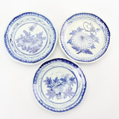Chinese Hand-Painted Earthenware Dishes