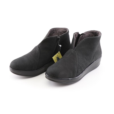 Fly London Brio 784 Black Leather Booties