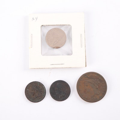 Large Cent, Indian Head Cents and Flying Eagle Cent Coins