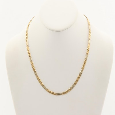 18K Yellow Gold Figaro Chain Necklace
