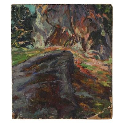 "Henry MacGinnis 1928 Oil Painting ""Baker Pond"""