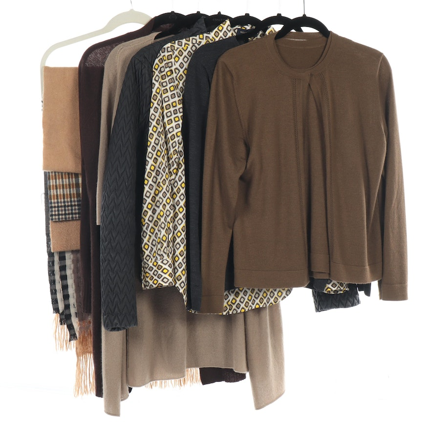 Jil Sander Jacket with Other Cashmere Cardigans and Sweaters, Blouse and Scarves