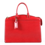 Louis Vuitton Paris Red Epi Leather Riviera Tote