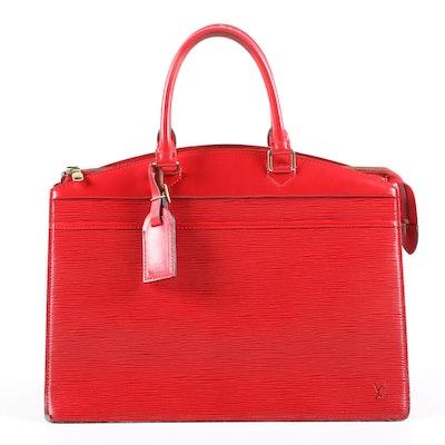 Louis Vuitton Paris Red Epi Leather Riviera Tote