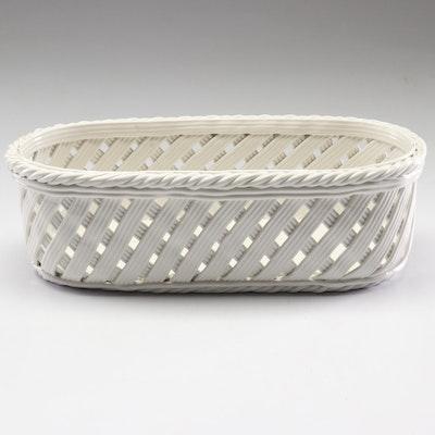 Tiffany & Co. Italian Reticulated Porcelain Basket