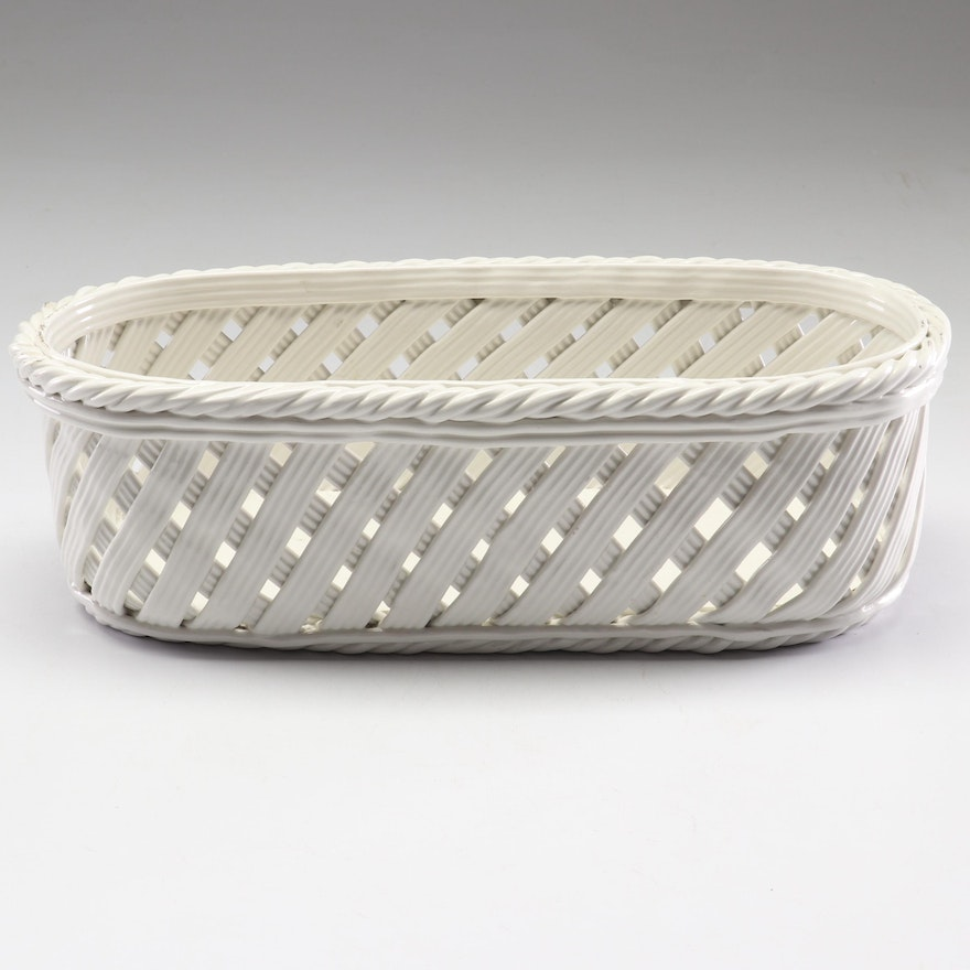 Tiffany & Co. Italian Reticulated Porcelain Basket