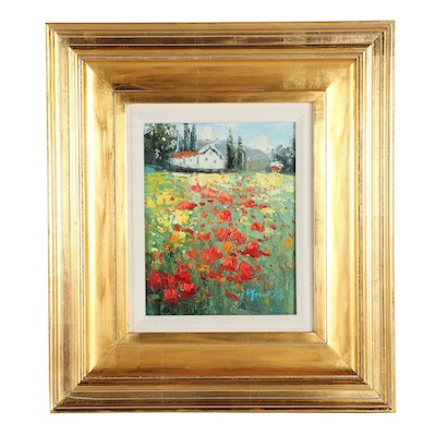 Landscape in Bloom Oil Painting