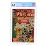 "1963 Marvel ""The Avengers"" Issue #1, CGC Graded"