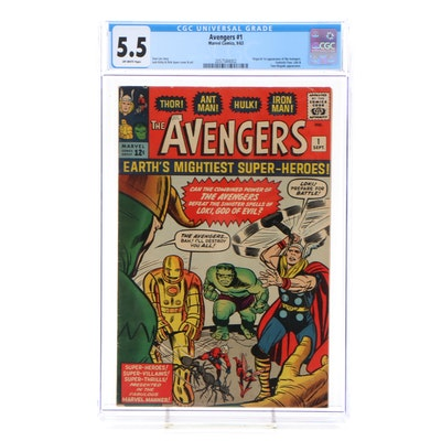 "1963 Marvel ""The Avengers"" Issue #1, CGC Graded"