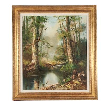 Impasto Landscape Oil Painting