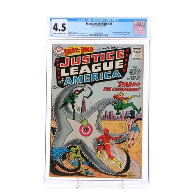 """1960 """"The Brave and the Bold"""" #28 First Justice League Appearance, CGC Graded"""