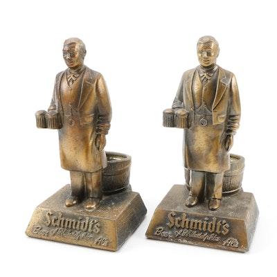 Schmidt Brewing Co. Cast Metal Bartender Beer Holders