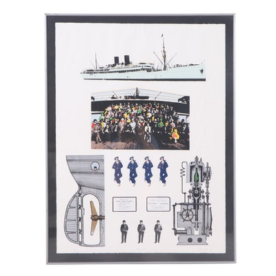 """Dan Reisinger Serigraph """"Ship Trip"""""""