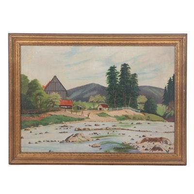 A. Steichele Landscape Oil Painting