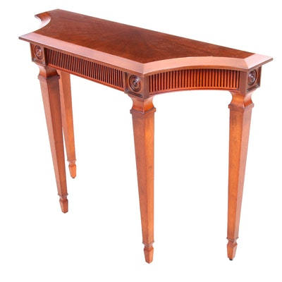 The Bombay Company Classical Style Cherry Finish Hall Table, Contemporary