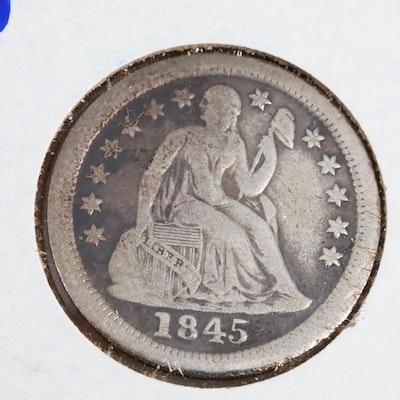 1845-O Seated Liberty Silver Dime