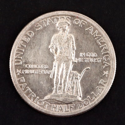 1925 Lexington-Concord Sesquicentennial Commemorative Silver Half Dollar