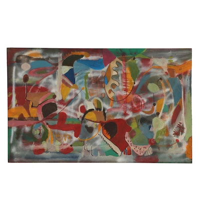 """Chuck Barr Mixed Media Painting """"This Is a Great One"""""""