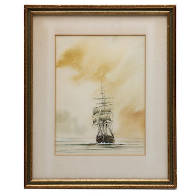 J. Nowacki Nautical Watercolor Painting