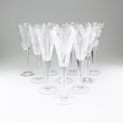 """Boxed Waterford Crystal """"The Millennium Collection"""" Champagne Flutes"""