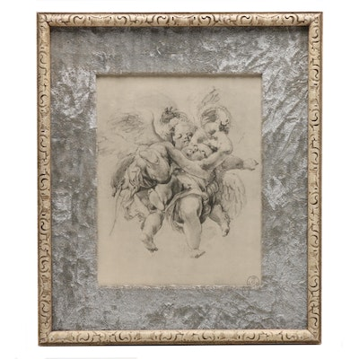 Lithograph Print of Cherubs
