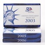 US Mint Proof Sets 2003, 2005, 2006