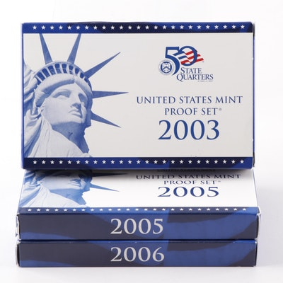 US Mint Proof Sets 2003, 2005, 2006