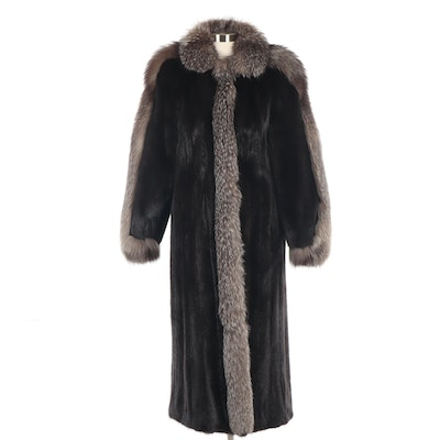 Mink and Raccoon Fur Full-Length Coat from Alper-Richman Furs of Chicago