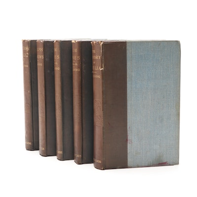 Antique Editions of Henry Fielding Novels, Five Volumes