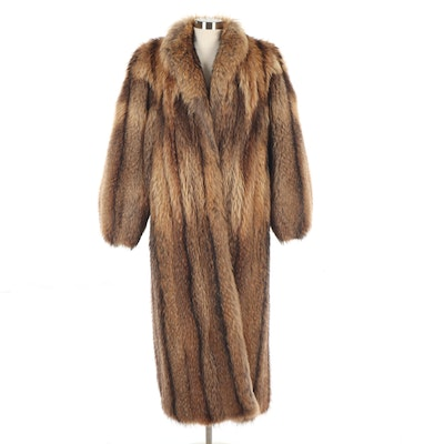 Tanuki Fur Coat from the Carol and Irwin Ware Fur Collection at I. Magnin