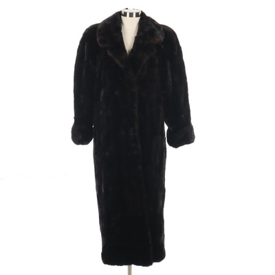 Yves Saint Laurent Ranch Mink Fur Coat, Vintage